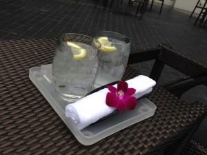 レモン水のサービス