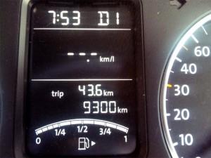 9300km