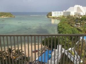 グアムのホテルからの景色