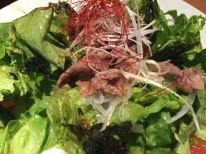 お店で食べた韓国風サラダ
