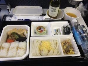 ボーイング787の機内食
