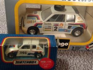 当時購入したプジョー205のミニカー